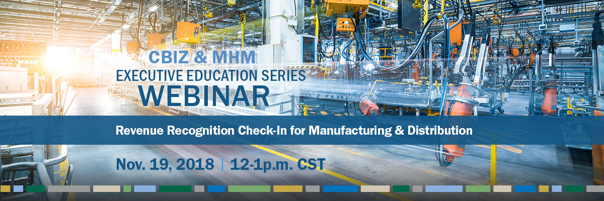 Revenue Recognition for Manufacturing Webinar