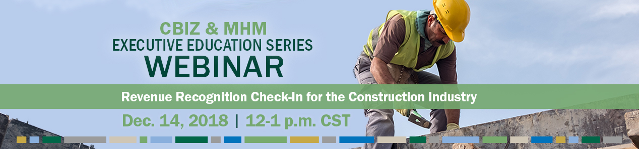 Revenue Recognition for Construction Industry Webinar